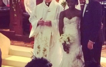 Photos from Adanna Ohakim and David Steineker's white wedding