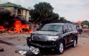 Again!!!!!! Second Bomb Goes Off In Kaduna: Affects Buhari's Convoy [Photos]