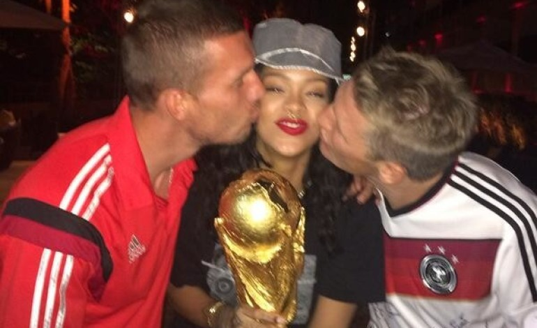 See How Rihanna celebrated Germany's World Cup Win