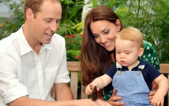 Duke and Duchess of Cambridge release new pics of their son as he turns a year old