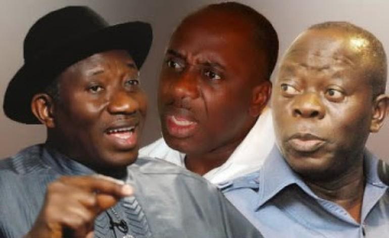 Impeachment Trouble: Amaechi, Oshiomhole Dare Jonathan