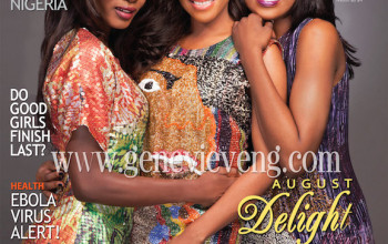 Model Adeola Ariyo, TV Personality Dolapo Oni & Musician Seyi Shay cover Genevieve Mag's August 2014 Issue