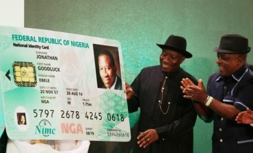 Pres. Jonathan Unveils National Electronic Identity Card (E-Id Card)