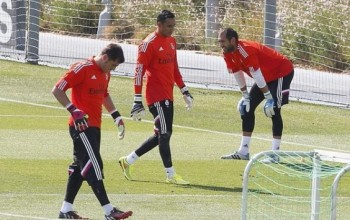 BATTLE!!! : Iker Casillas, Keylor Navas and Diego Lopez all train together for the first time (PHOTO)