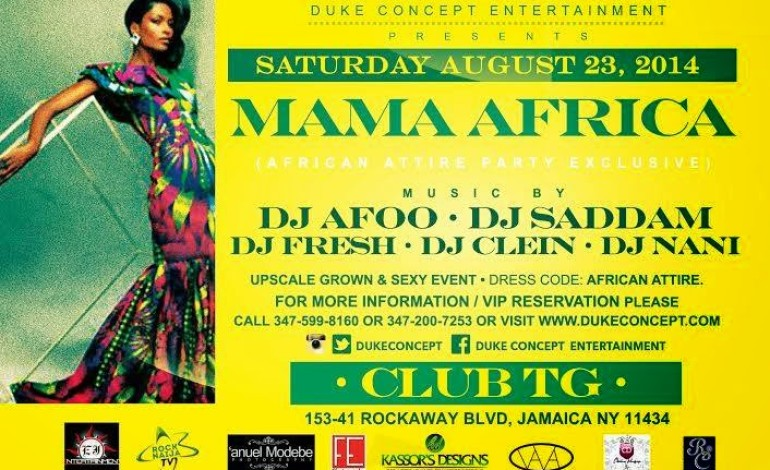 New York Africa Attire Party This Saturday