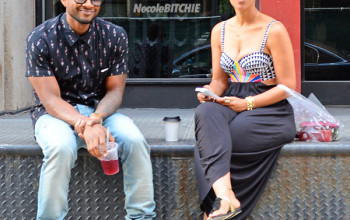 Usher Catches A Drink With Grace Miguel [+ Shares His Thoughts On Tameka Still Carrying His Last Name]