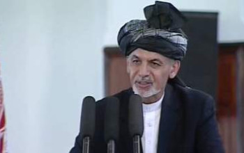 Afghan President Sworn In After Disputed Poll