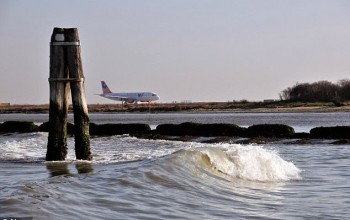 Weeping pilot tells terrified passengers to brace for a crash landing at sea after plane suffers engine failure