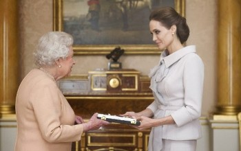 Photos: Angelina Jolie meets the Queen of England, made a Dame