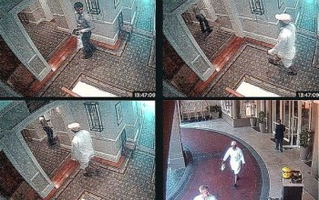 Husband caught on camera handing over cash to hitman he hired to kill his bride