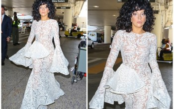 Ooops She Did It Again!!!! Lady Gaga Is Basically Nak ed In Ultra See-Through Lace Dress