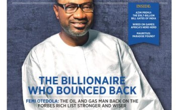 The Billionaire Who Bounced Back! Femi Otedola Covers Forbes Africa's November 2014 Issue