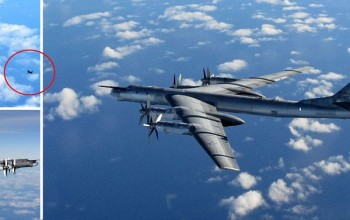 RAF jets scramble to intercept Russian bombers over North Sea as Nato reports dozens of planes in European airspace