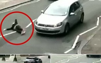 Caught on CCTV: Horrifying moment a woman was hit by a car on Abbey Road zebra crossing made famous by Beatles album cover