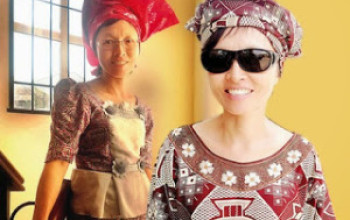 """LMAO! Chinese woman married to a yoruba man tells her exciting story """"Day I pounded yam"""""""