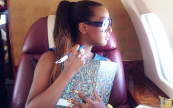 DJ Cuppy flies to Ghana in her father's private jet, See photos