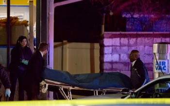 Photos of the teenager shot dead by police in St. Louis yesterday