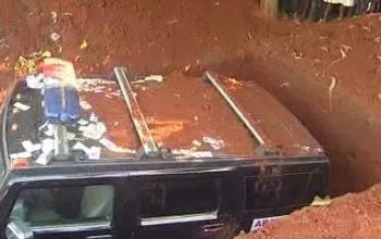 This is  Crazy: Man buried in his Hummer SUV, Photos
