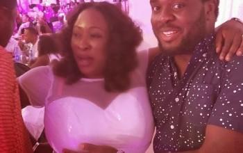 Aremu Afolayan grabs Yoruba Actress Big Boob at a Party