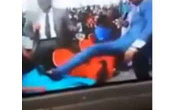 Pastor Caught On Video Kicking Pregnant Woman In The Stomach