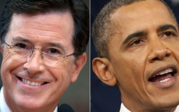 Hilarious! Obama Plays Host on Comedian Stephen Colbert's Show