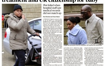Nigerian used friend's ID to get free NHS treatment & UK citizenship for baby