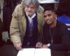 Photos: Samuel Eto signs new contract with U.C. Sampdoria