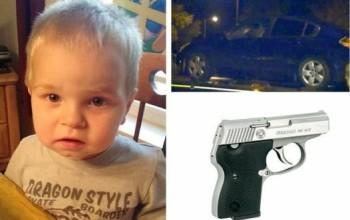 2 year old shoots himself dead with his dad's gun inside family car