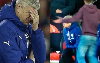 Furious Fan Confronts Wenger As Arsenal Succumbed To Defeat Against Southampton