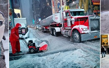 IT'S A SNOR'EASTER! New York City escapes blizzard's wrath... BUT Long Island, Connecticut and Massachusetts hit by storm expected to last into Wednesday morning
