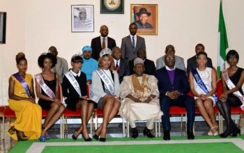 Photos: Miss Black Africa UK pays courtesy call on Nigerian High Commissioner to the UK
