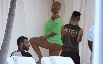 Wow! Amber Rose goes to pless