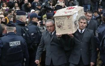 Slain Charlie Hebdo Cartoonist Buried In Unique Coffin [PHOTOS]