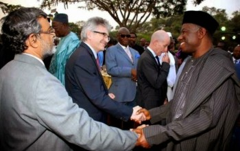 Photos: President Jonathan meets with Diplomatic corps in Abuja
