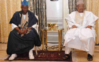 Photos: GEJ's visit to former Head of State IBB in Minna yesterday