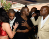 Kim & JayZ hug it out at Roc Nation Pre-GRAMMY Brunch in LA