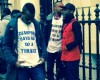 For Real! Anti-Buhari protesters now at Chattam house, London..:-) See Photo