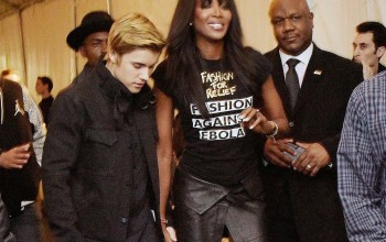 Naomi Campbell hope its not what i am thinking! Not with Justin Bieber for goodness sake!