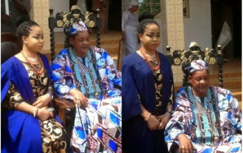 Photos: Alaafin of Oyo's youngest wife matriculates