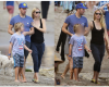 Friendly Hmm! Gywneth Paltrow & Chris Martin walk arm-in arm as they spend Val with their kids