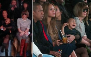 See Vogue editor Anna Wintour's reaction as North West throws tantrum