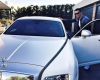 Cristiano Ronaldo shows off his Rolls Royce as he goes for training