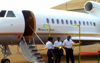 Ghana Presidential Jet Erupted In Flames Today