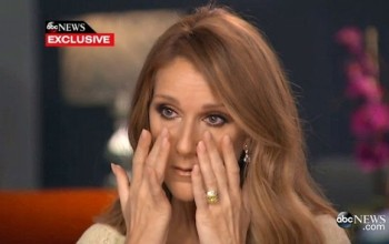Celine Dion breaks down in tears as she reveals husband's painful battle with throat cancer