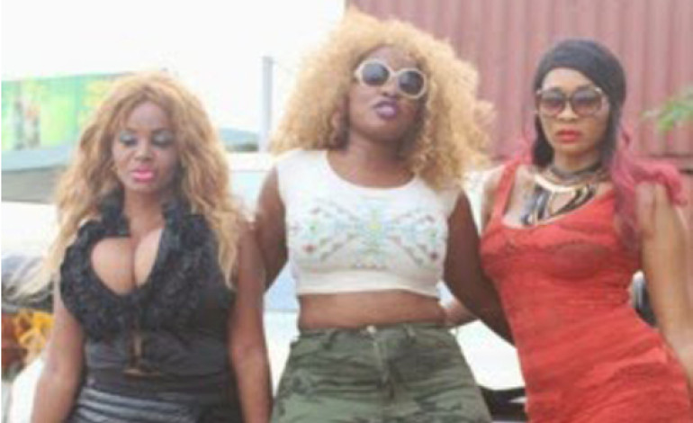 Cossy Orjiakor, Anita Joseph & D'lyte Look Stunning On Movie Set