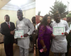 Photos: Desmond Elliot receives his Certificate of Return