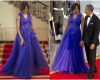 Photos: #MichelleObama stuns in blue dress at #WhiteHouse State Dinner