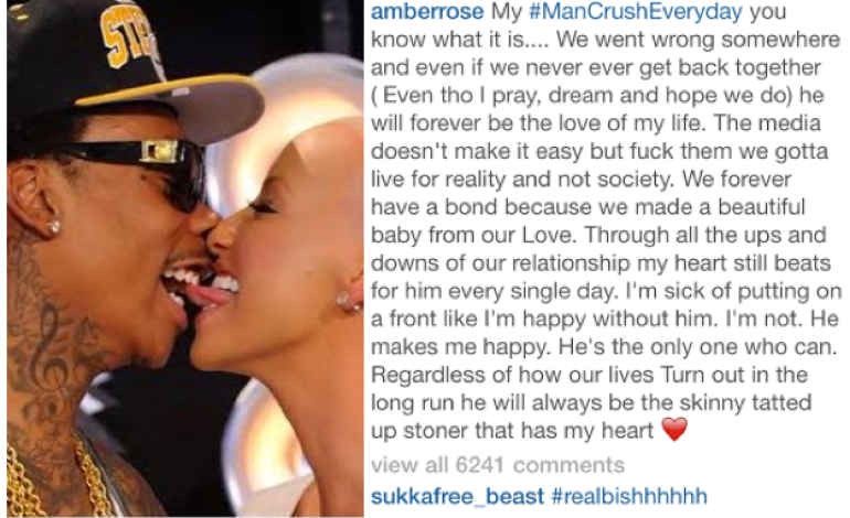 Amber Rose says she wants Wiz Khalifa back, that she's unhappy without him