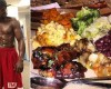Check out $1k a plate meal Mayweather's feeding on