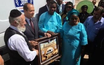 Photos: Pastor Adeboye donates ambulance to Israel